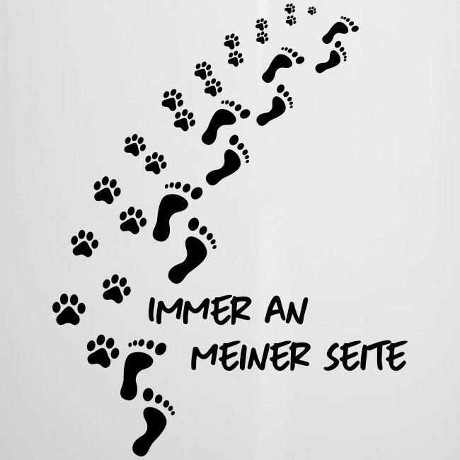 Vorschau: Immer an meiner Seite - Mein Hund und Ich - Emaille-Tasse