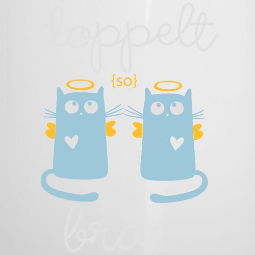 Zwillinge: Doppelt brav - Emaille-Tasse