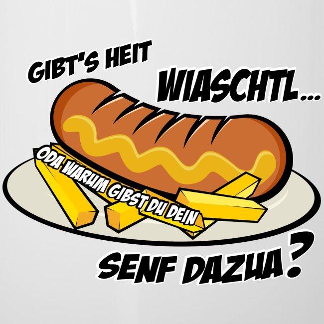 Vorschau: Wiaschtl mit Senf - Emaille-Tasse