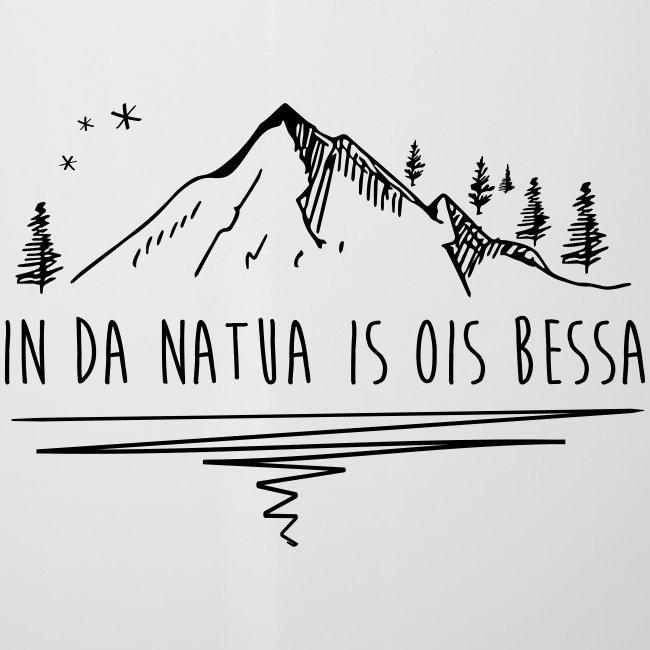 Vorschau: In da Natua is ois bessa - Emaille-Tasse