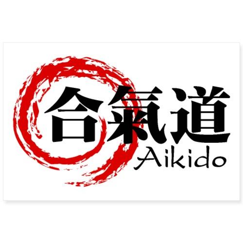 Aikido poster horizontal - Poster 36 x 24 (90x60 cm)
