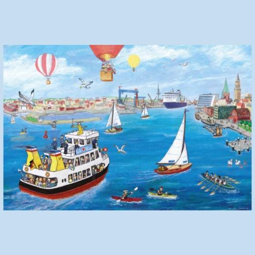 Kieler Hafeneinfahrt - Poster 90x60 cm
