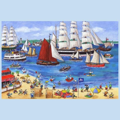 Kiel Windjammerparade 1 - Poster 90x60 cm