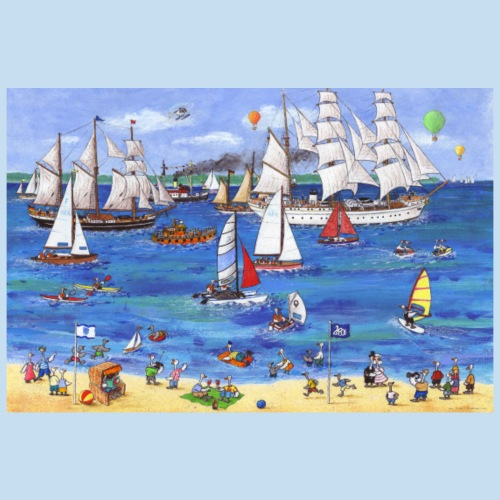 Kieler Windjammerparade 2 - Poster 90x60 cm
