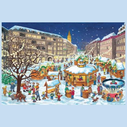 Weihnachtsmarkt Kiel - Poster 90x60 cm