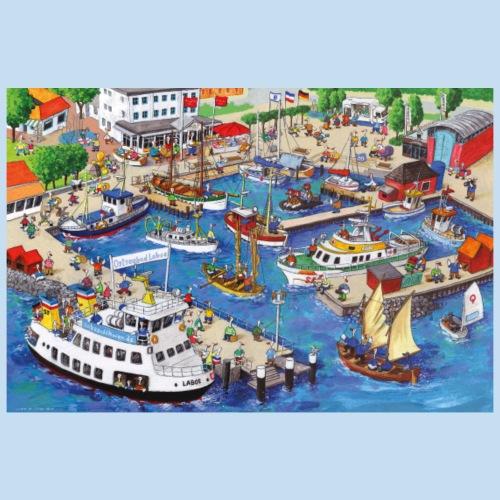 Hafen Laboe - Poster 90x60 cm