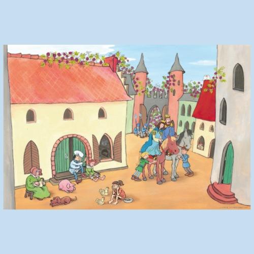 Motiv Burg von Dornröschen - Poster 90x60 cm
