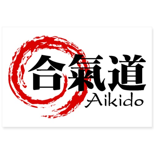 Aikido poster horizontal - Poster 36 x 24 (90x60 cm)