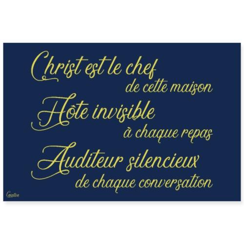Christ chef, hôte invisible et auditeur silencieux - Poster 90 x 60 cm