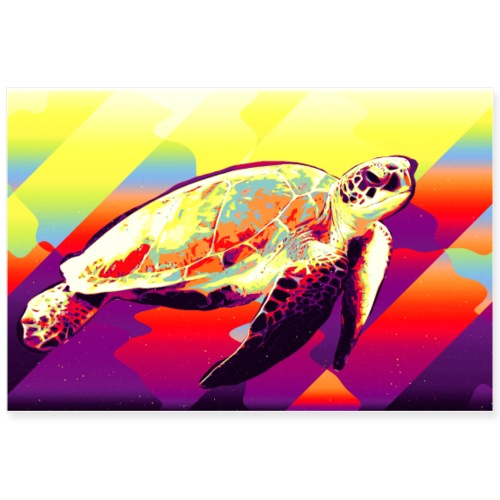 turtle - Poster 90x60 cm
