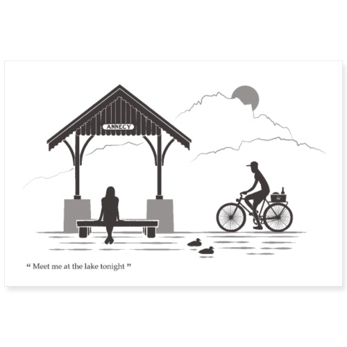 Annecy - Meet me at the lake - Poster 90 x 60 cm