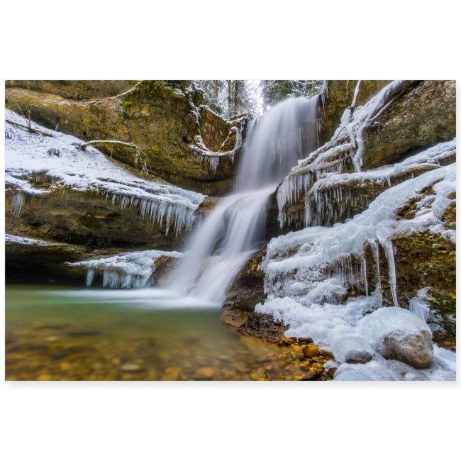 Winterlandschaft am Hasenreuter Wasserfall