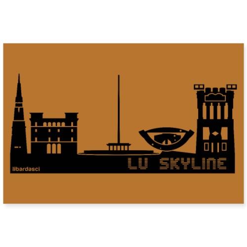 Poster: Lu Skyline rame - Poster 90x60 cm