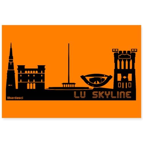 Poster: Lu Skyline arancio sunset - Poster 90x60 cm