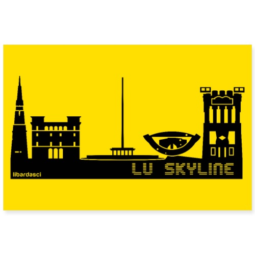 Poster: Lu Skyline giallo senape - Poster 90x60 cm