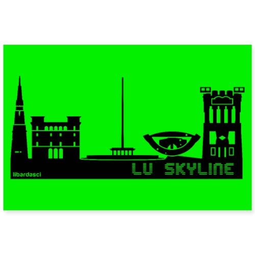 Poster: Lu Skyline verde mela - Poster 90x60 cm
