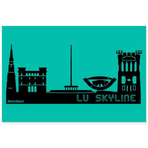 Poster: Lu Skyline petrolio - Poster 90x60 cm