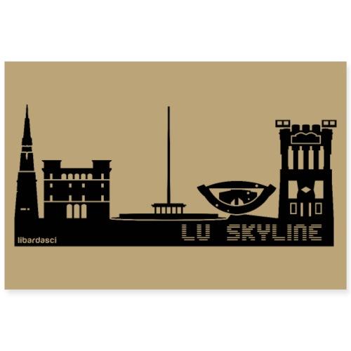 Poster: Lu Skyline tortora - Poster 90x60 cm