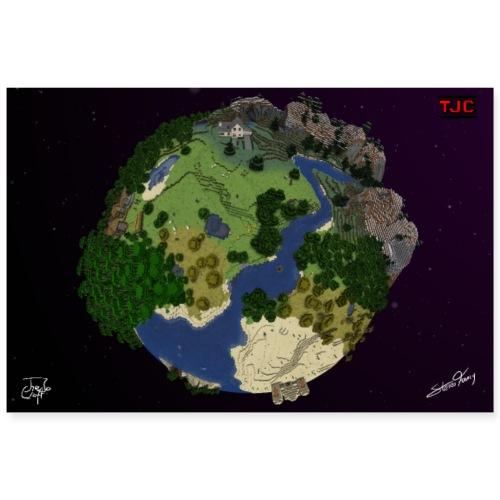 Poster Block Planet - Poster 90x60 cm