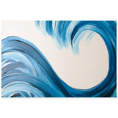 Große Welle von sumadesign - Poster 90x60 cm