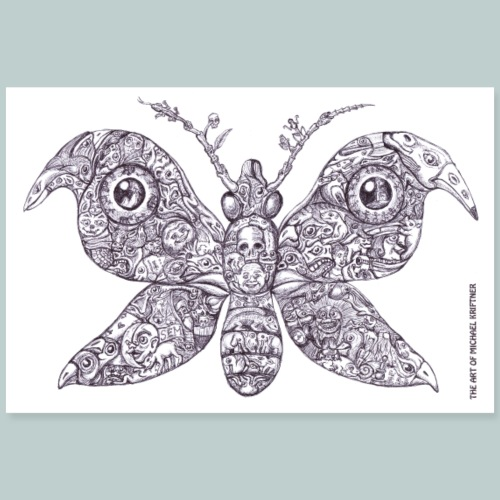 Sammelsurium Schmetterling - the Art of M.K. - Poster 90x60 cm