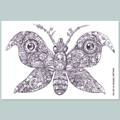 Sammelsurium Schmetterling - the Art of M.K. - Poster 90x60 cm