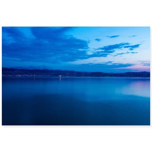 Sonnenuntergang am Bodensee - Poster 90x60 cm