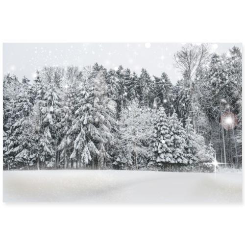 Winterlandschaft - Poster 90x60 cm