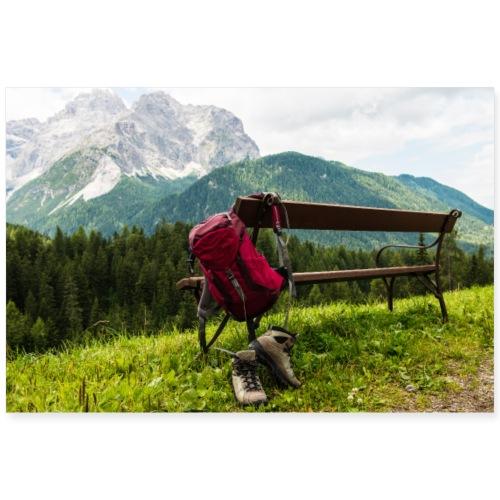 Wandern in Dolomiten - Poster 90x60 cm