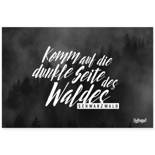 Komm auf die dunkle Seite des Waldes - Schwarzwald - Poster 90x60 cm