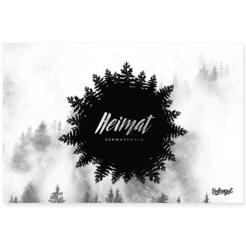 Heimat - Schwarzwald - Poster 90x60 cm