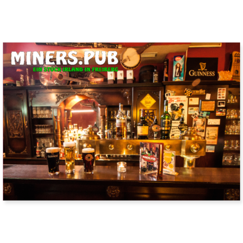 Poster Miners Pub - Poster 90x60 cm