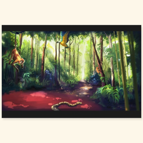 Jungle - Poster 90 x 60 cm