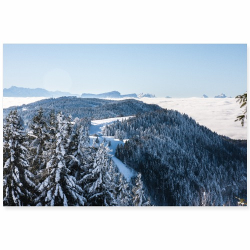 Vue depuis le Mont Revard - Poster 90 x 60 cm
