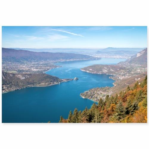 Le Lac d'Annecy en automne - Poster 90 x 60 cm