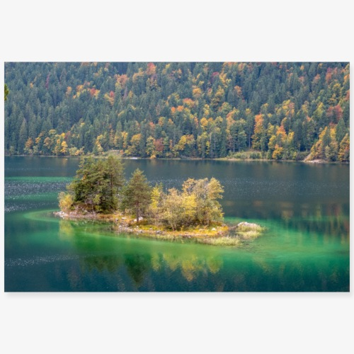 Eibsee - Poster 90x60 cm
