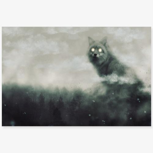 Silver fox - Poster 90 x 60 cm
