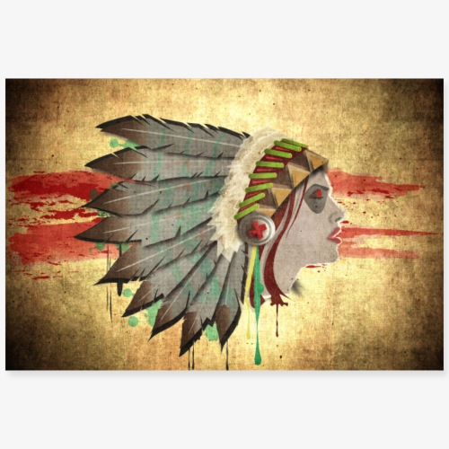 Native american - Poster 90 x 60 cm