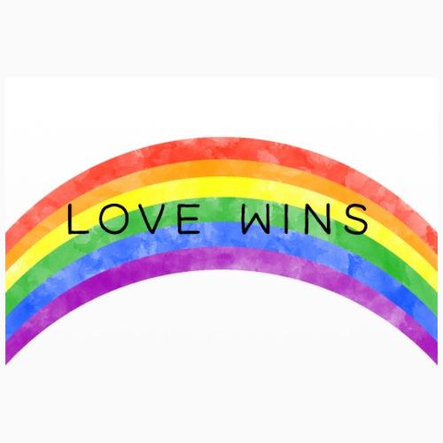 LoveWins Regnbue - Poster 36 x 24 (90x60 cm)