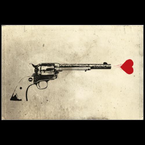 LOVE GUN   Street Art Poster - Poster 90x60 cm