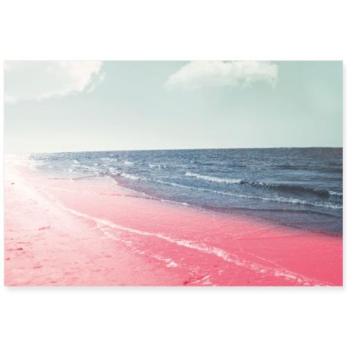 PINK BEACH - Poster 90x60 cm