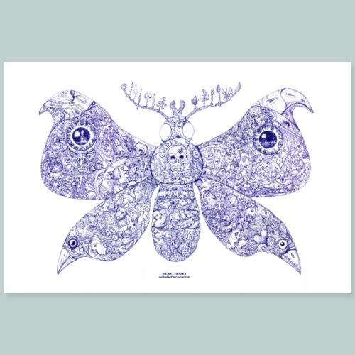 Schmetterling - Kunst von Michael Kriftner - Poster 90x60 cm