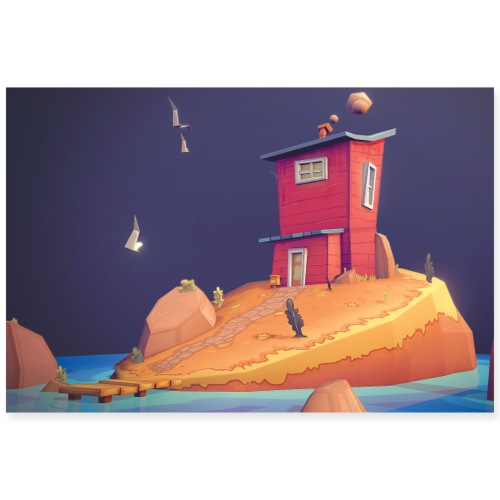 Island - Poster 90 x 60 cm