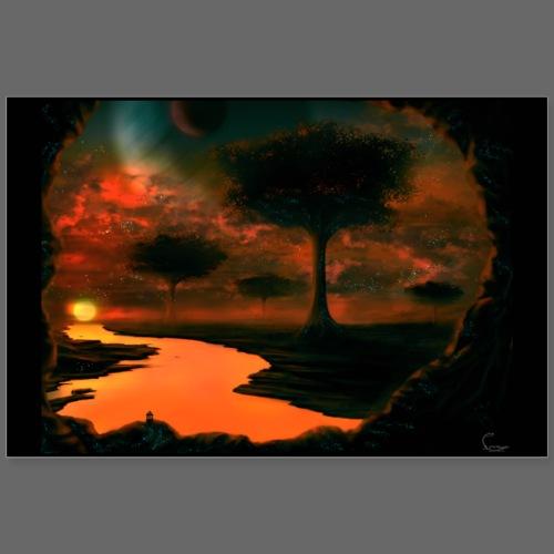 Savann of sun - Poster 90x60 cm