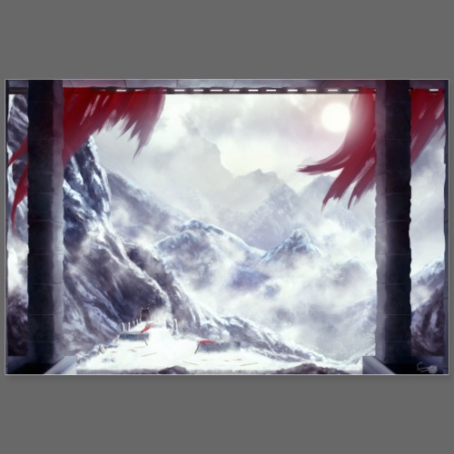 Icy Mountains - Poster 90x60 cm