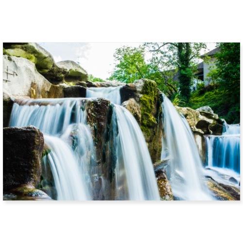 Wasserfall - Poster 90x60 cm