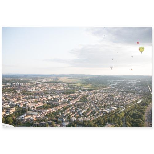 montgolfiades vu du ciel - Poster 90 x 60 cm
