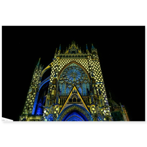 cathedrale saint etienne metz mapping video - Poster 90 x 60 cm