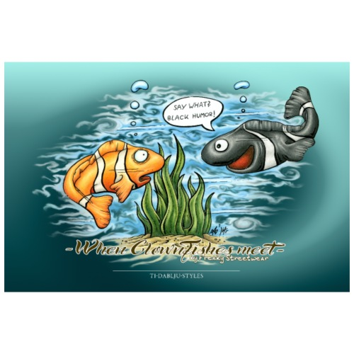 When Clownfishes meet - Poster 90x60 cm