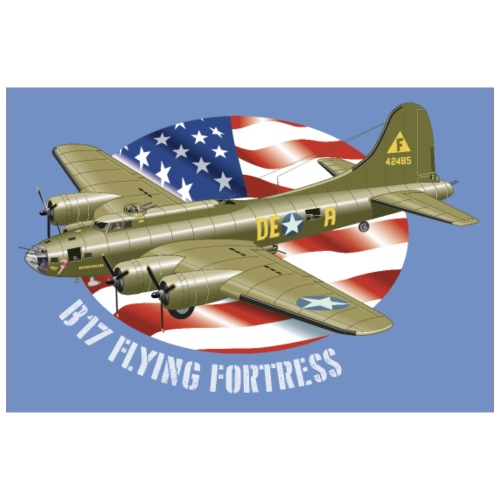 Poster B-17 Flying Fortress - Poster 90 x 60 cm